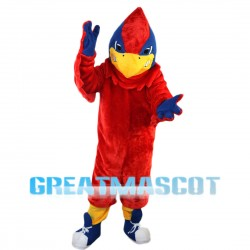 Scary Big Red Bird Mascot Costume