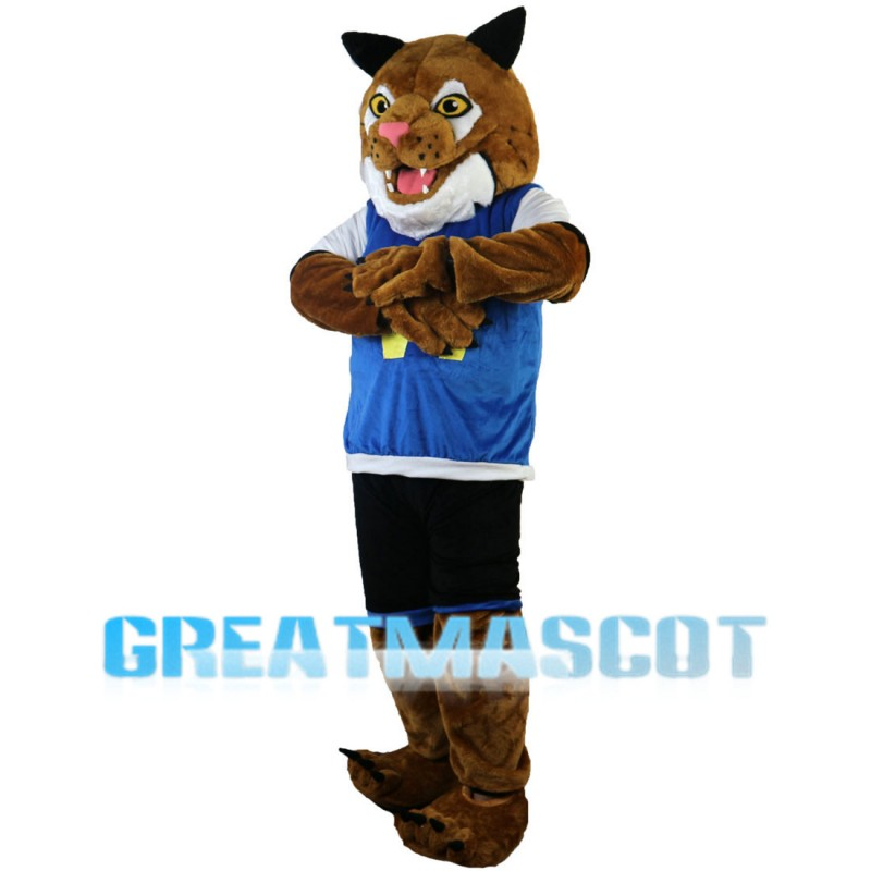 Kind Tiger Mascot Costume For Sports Competition