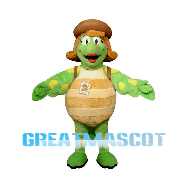 Tortoise Lady With Red Lips Mascot Costume