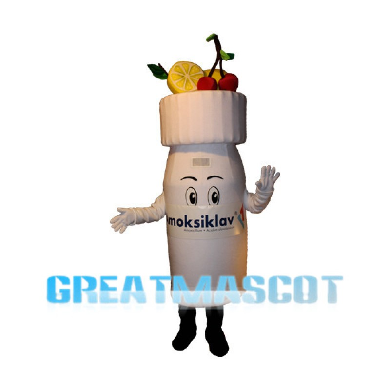 White Medicine Bottle Mascot Costume