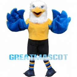 Strong Eagle With Blue Wings Mascot Costume