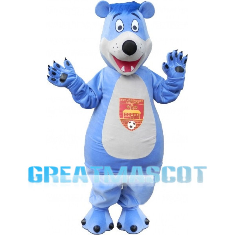 Sports Blue Bear Mascot Costume