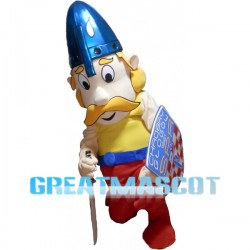 Fighting Soldier Holding Shield Mascot Costume