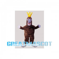 Crown Gorilla With Big Nostrils Mascot Costume