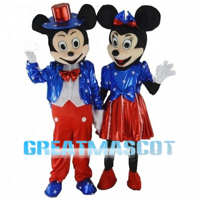 Mickey Mouse With Blue Set Mascot Costume