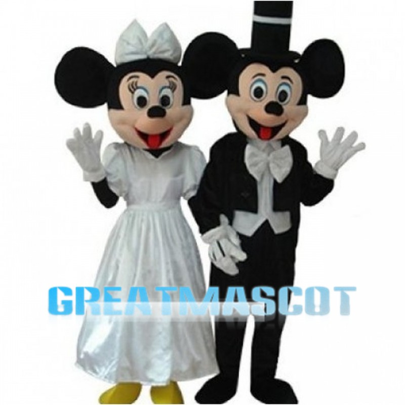 Mickey Mouse Wearing Wedding Dress Mascot Costume