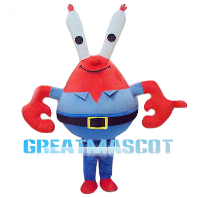 Red Crab With Elongated Eyes Mascot Costume