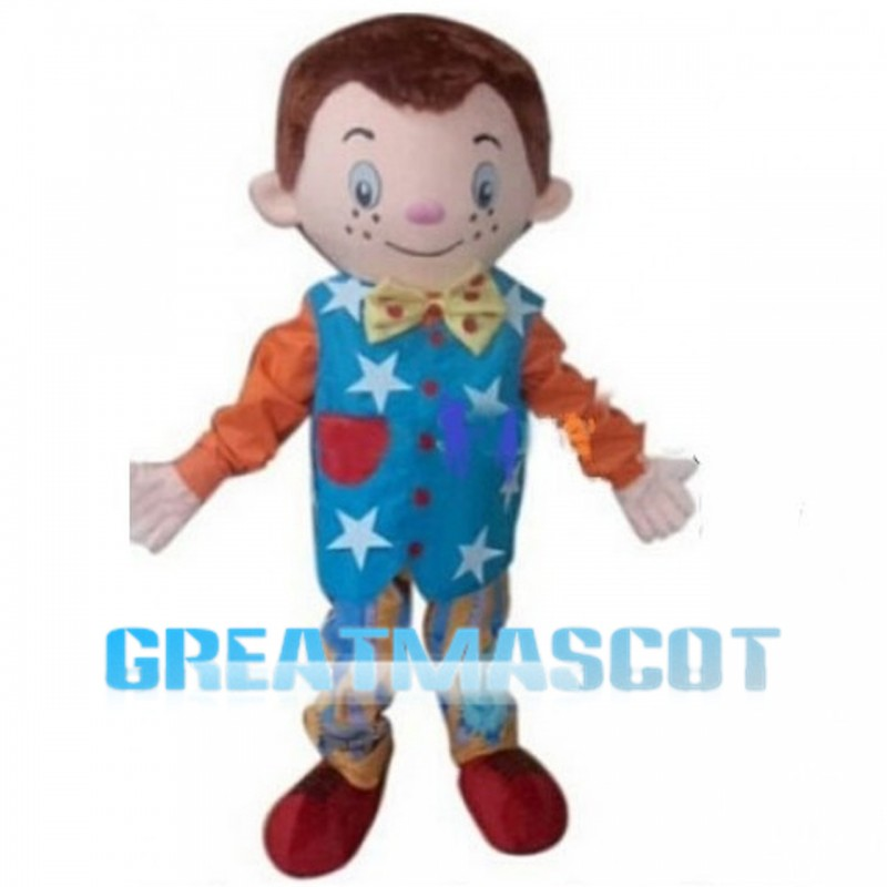 Freckled Little Boy Mascot Costume