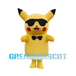 Boss Pikachu With Sunglasses Mascot Costume