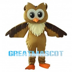 Big Head Owl Mascot Costume