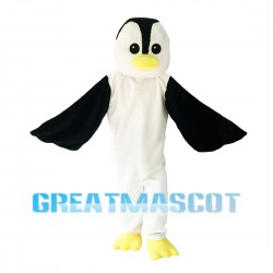 Slim Tall Penguin Mascot Costume