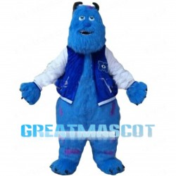 Giant Blue Hairy Monster Mascot Costume