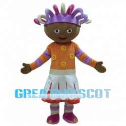 Ragdoll With Colorful Braids Mascot Costume