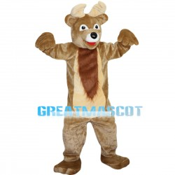 Pleasant Brown Moose Mascot Costume