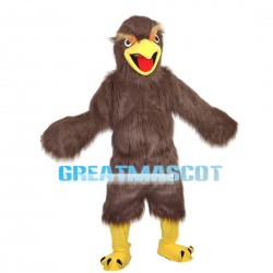 Screaming Long Fur Brown Eagle Mascot Costume