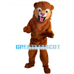 Roaring Brown Lion Mascot Costume
