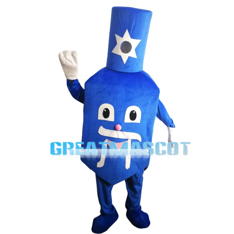 Cartoon Blue Nail Polish Bottle Mascot Costume