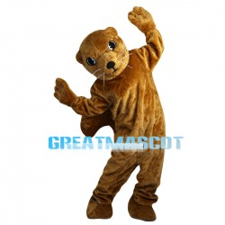 Brown Squirrel With Big Hairy Tail Mascot Costume