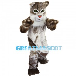 Plush Gray Tiger With Red Nose Mascot Costume