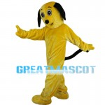 Yellow Dog With Ears Hanging Mascot Costume