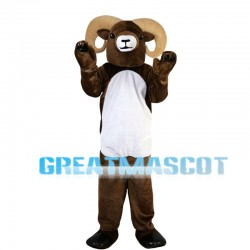 Brown Ram With Curved Claws Mascot Costume