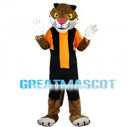 Friendly Tiger With Set Mascot Costume
