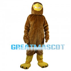 Brown Eagle With Short Wings Mascot Costume