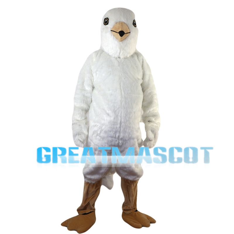 Short Plush White Bird Mascot Costume