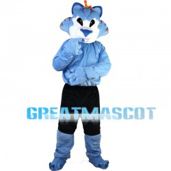 Blue Leopard With Black Shorts Mascot Costume