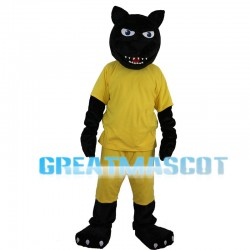 Black Panther With Yellow Set Mascot Costume