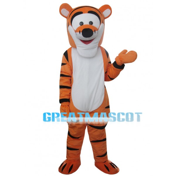 Energetic Jumping Tiger Mascot Costume