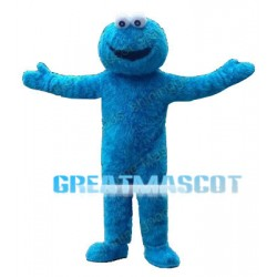 Short Plush Blue Sesame Street Mascot Costume