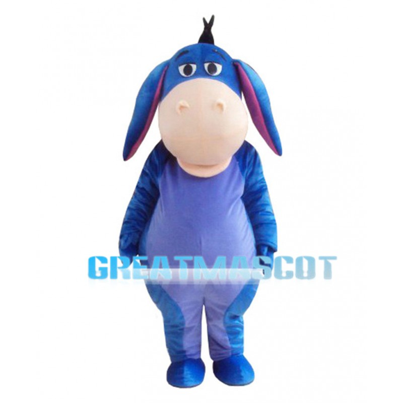 Big Mouth Blue Donkey Mascot Costume