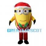 Christmas Minions With Overalls Mascot Costume