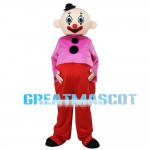 Big Belly Clown With Bright Clothes Mascot Costume