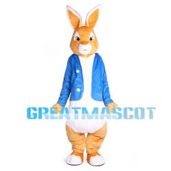 Rabbit With Blue Coat Mascot Costume Full Set