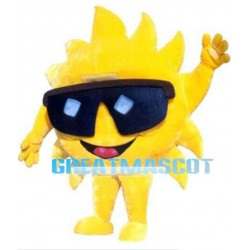 Warm Sun With Sunglasses Mascot Costume