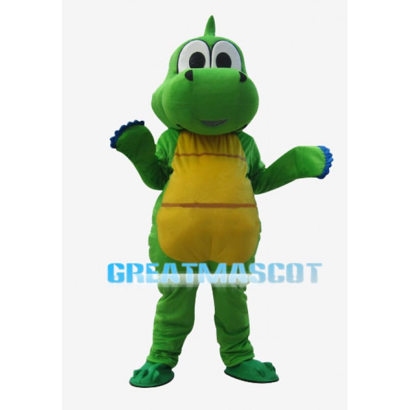 Green Dargon With Yellow Belly Mascot Costume