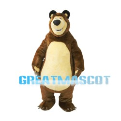 Big Brown Bear Misha Mascot Costume