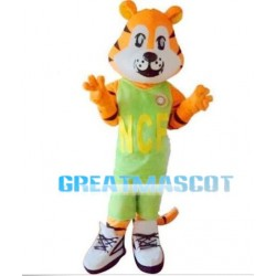 Sports Tiger With Green Set Mascot Costume