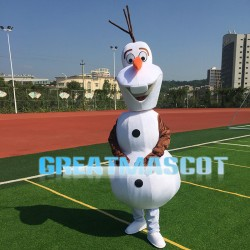 Optimistic Snowman Olaf Mascot Costume