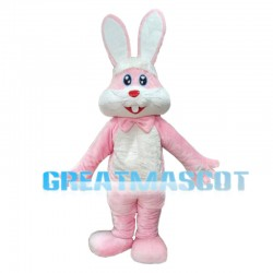 Long Ears Pink Rabbit Mascot Costume