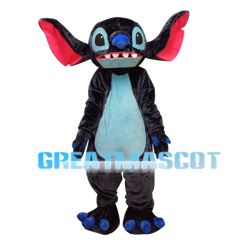 Strange Look Blue Eyes Stitch Mascot Costume