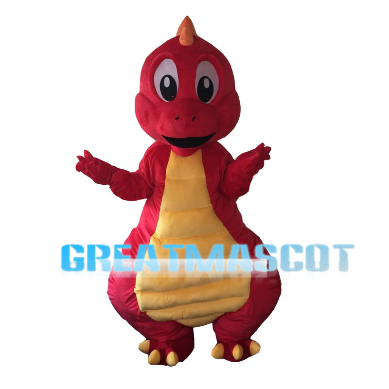 Red Dragon Baby With Yellow Belly Mascot Costume