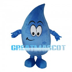 Big Eyes Blue Water Drop Mascot Costume
