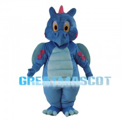 Blue Dinosaur With Wings Mascot Costume