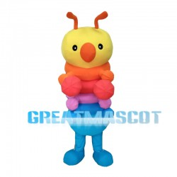 Cartoon Colorful Caterpillar Mascot Costume