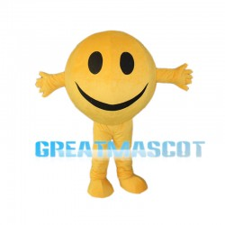 Yellow Smiling Face Mascot Costume