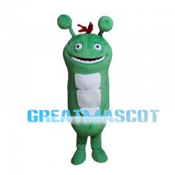 Disgusting Green Caterpillar Mascot Costume