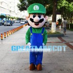 Mario Uncle Wearing Overalls Mascot Costume